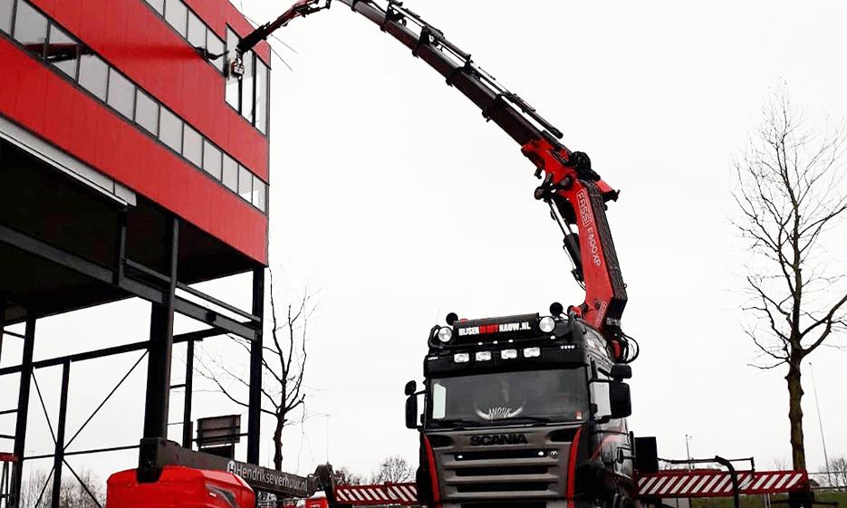 Autokran Scania Glassauger