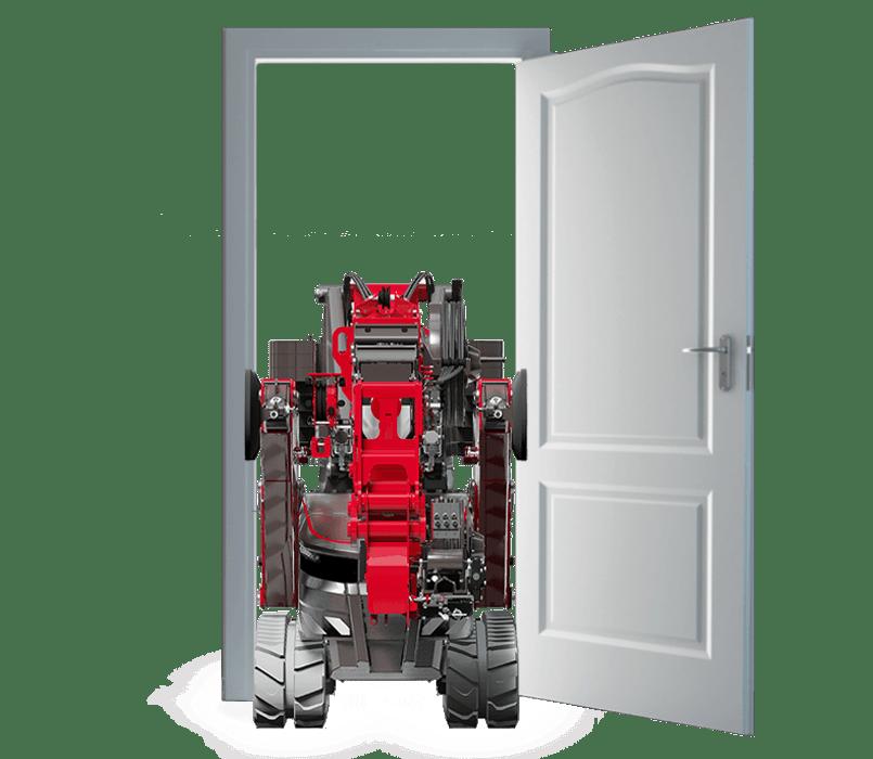 Tür mit Minikran öffnen